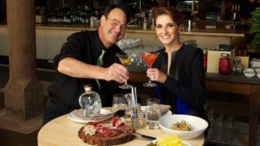 Kate Waterhouse with Dan Aykroyd at Nomad Restaurant, Surry Hills.