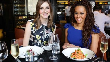 Kate Waterhouse with Melanie Brown, who has enjoyed getting back in the recording studio.