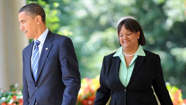 Controversial position ... President Barack Obama with the US Surgeon-General Regina Benjamin.