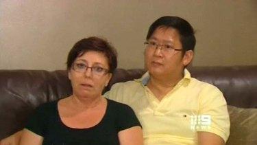 Abigail Corthals' parents Michael and Francoise.