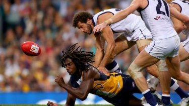 """Nic Naitanui said West Coast was """"his home"""", after signing a new five-year deal with the Eagles."""