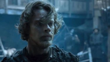 Haven't we sunk low ... Theon, or Reek as he prefers to be known, not only sleeps with the dogs but obeys orders like them too.