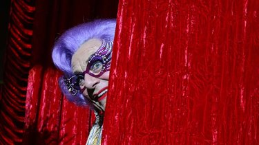 Farewell possums ... Dame Edna Everage is a reluctant retiree.