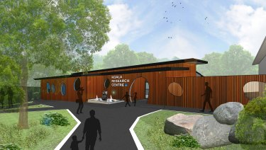 Design image for the new koala research centre at Lone Pine Koala Sanctuary