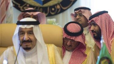 King Salman of Saudi Arabia, left, and Mohammad Bin Salman Al Saud.