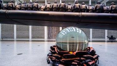 "A Biennale installation at Artspace, Woolloomooloo: the crystal ball represents ""future uncertainty"", says Kataoka."