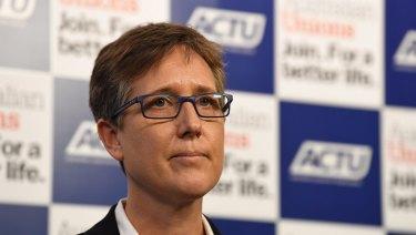 ACTU Secretary Sally McManus.
