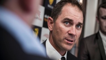 Next in line? Justin Langer is the favourite to succeed Darren Lehmann.