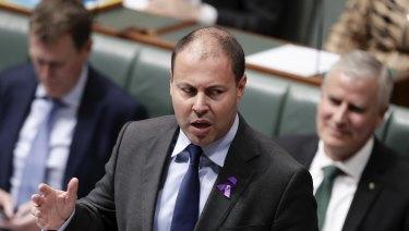 Energy Minister Josh Frydenberg in Federal Parliament this week.