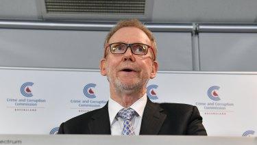 Crime and Corruption Commission chair Alan MacSporran.