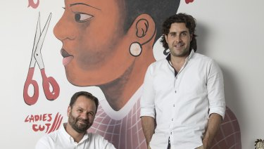 Toby Raphael and Daniel Symonds owners of the new The Collectionist hotel in Camperdown.