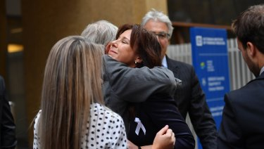 Joy Rowley's daughter Renee outside the Coroner's Court on Wednesday.