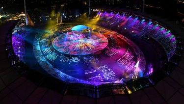The colour and glitz of the opening ceremony.