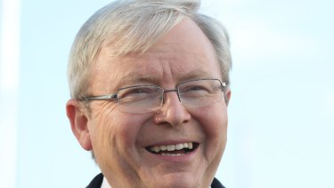 Kevin Rudd had threatened legal action over the report on the cabinet files.