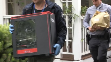 Police found thousands of disturbing images on hard drives seized during the raids.