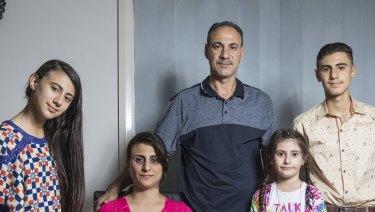 Lazurde Alkhameesi and Rawaa Ezdan with children Lazurde, 11, Suma 7, and Haitham, 13.