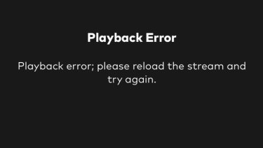 The dreaded Optus Sport streaming error message that has been hampering the World Cup for Australians.