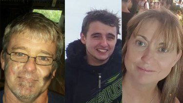 Graeme Thomson (left), Dylan Thomson (centre) and Ros Thomson (right) have been named as the deceased.