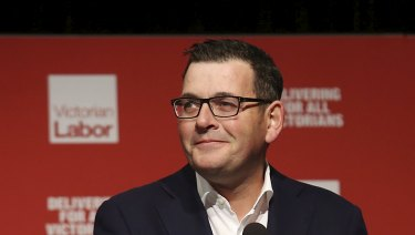Victorian Premier Daniel Andrews at the ALP state conference.