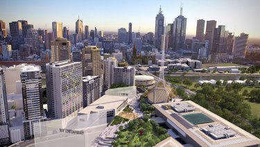 Artist rendition's of the proposed NGV Contemporary and 'transformation' of the Southbank arts precinct.