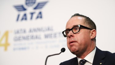 Alan Joyce at the IATA AGM in Sydney.