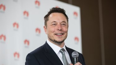 The Tesla chief executive officer quickly deleted the post.