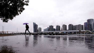 It was a wet and rainy start at Docklands on Friday morning.