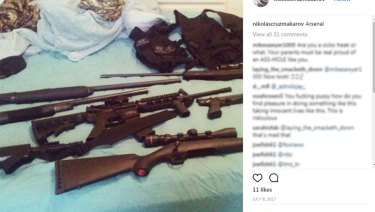 "Nikolas Cruz posted several images of weapons and called himself ""the annihilator""."
