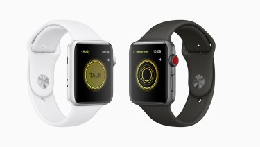 Apple Watch has a new walkie talkie function.