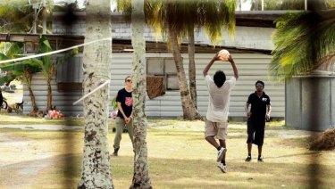 Asylum seekers at Nauru detention centre.