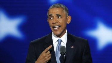 Barack Obama in Philadelphia in July 2016.