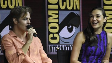 Wonder Woman 1984 stars Gal Gadot (right) and Chris Pine at Comic-Con.
