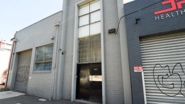 The converted warehouse belonging to Mark Thompson in Port Melbourne that was raided by police.