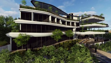 The proposed hotel would adjoin the Bulimba ferry terminal
