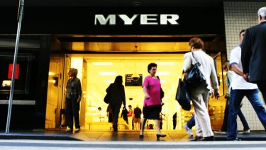 "Customers are being met with a ""I don't work for Myer"" attitude."