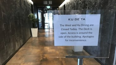 Ku De Ta at the $18 million On The Point waterfront precinct has gone into administration.