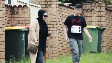 Zahraa Lami seen leaving her Merrylands home.