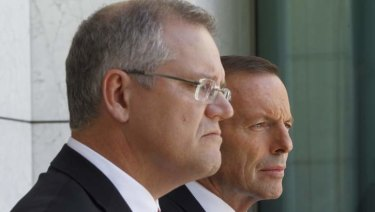 Treasurer Scott Morrison has hit back at former prime minister Tony Abbott.