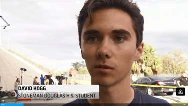 Senior student David Hogg, who narrowly escaped being shot, pleaded with politicians to tackle gun reform.