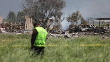 More than a dozen people were killed and at least 40 injured  when a series of explosions ripped through fireworks workshops in a town just north of Mexico City.