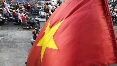 A Vietnamese national flag.