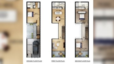 A South Australian floor plan for micro-housing.