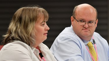 Robert Whittet (right) gave evidence at the franchising code inquiry.