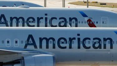 A pair of American Airlines jets