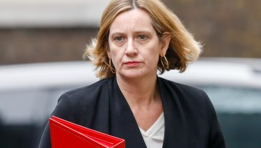 Resigned: Britain's Home Secretary Amber Rudd.
