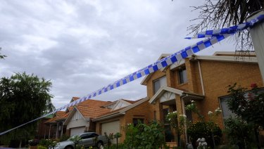 The residence in Callistemon Rise, Mill Park, where the stabbing is alleged to have occurred on Friday afternoon.