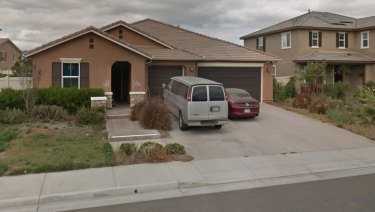 The Turpin home in Perris, California.