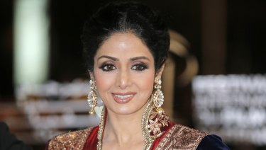 Indian actress Sridevi in 2012.