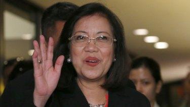 Ousted: Philippine Supreme Court Chief Justice Maria Lourdes Sereno.