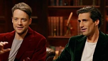 Hamish Blake and Andy Lee on their TV show True Story.